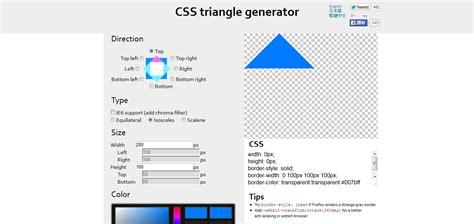 css triangle pattern generator useful utilities for web design development ui design hints