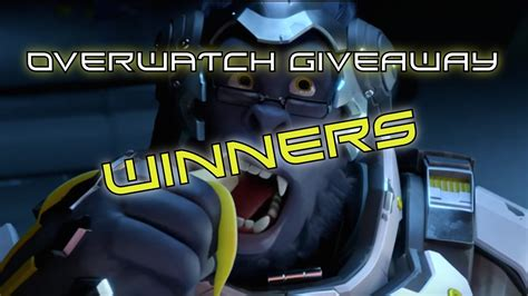 Overwatch Giveaway - overwatch giveaway winners youtube