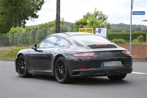 new porsche 2016 2016 porsche 911 revealed in latest spyshots facelift