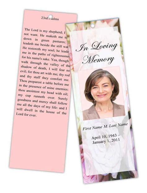 8 Best Top Memorial Bookmark Template Designs Images On Pinterest Bookmark Template Book Funeral Memory Book Templates