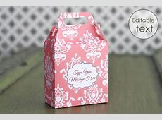 Printable Gift Bag Templates - Cute Bags with Handles Vintage Christmas Wrapping Paper