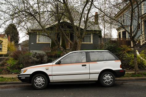 old parked cars 1991 mitsubishi mirage