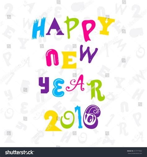 creative happy new year 2016 creative happy new year 2016 greeting design vector