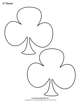 of clovers card template blank clover templates printable shamrock clubs template