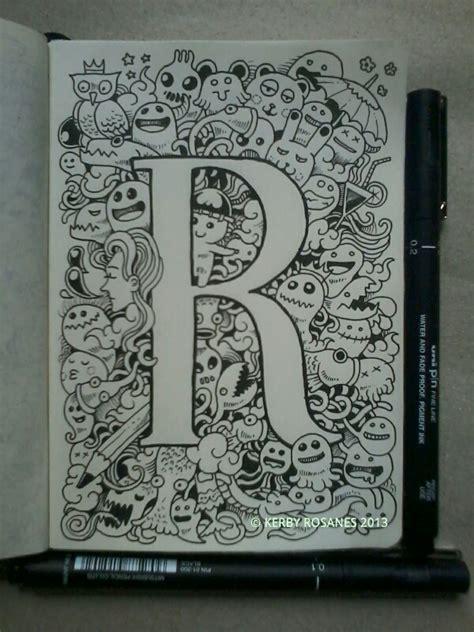 doodle letter ideas letter r doodle by kerby rosanes doodles
