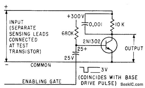transistor gate questions power transistor test gate signal processing circuit diagram seekic