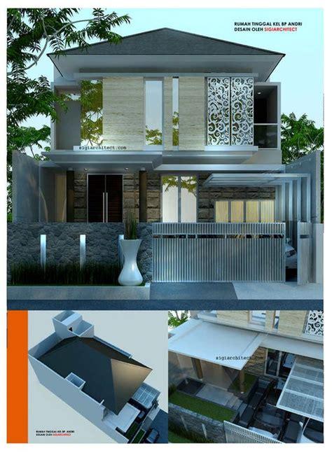 desain dapur modern desain rumah modern minimalis 2 lantai bp andri denah