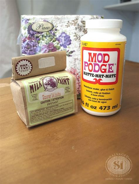 How To Decoupage On Wood With Mod Podge - 289 best decoupage furniture images on