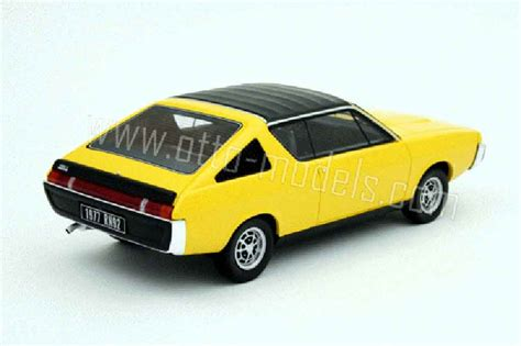 Renault 17 Gordini Yellow 1977 Ottomobile Diecast Model
