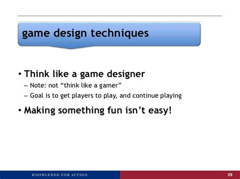 game design notes game design techniques think like