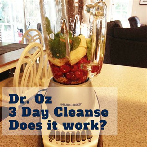 Dr Oz 3 Day Detox Does It Work by W Dr Oz 3 Day Cleanse Day 1