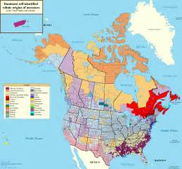 states in canada map largest ancestries in the united states and canada by