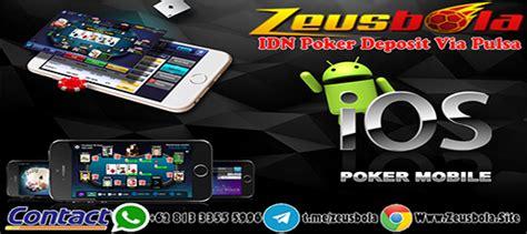 melakukan taruhan agen idn poker deposit pulsa