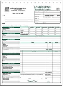 landscaping bill template landscaping receipt template