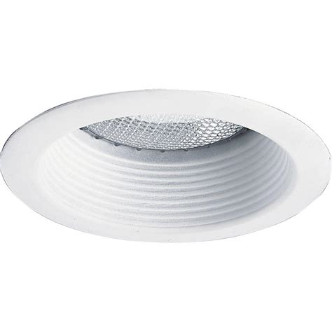 halo shallow can lights commercial electric 4 in white recessed baffle trim
