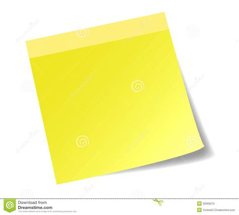 paper stick yellow stick note paper stock photos image 30355013
