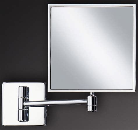 hib square magnifying bathroom mirror 24400