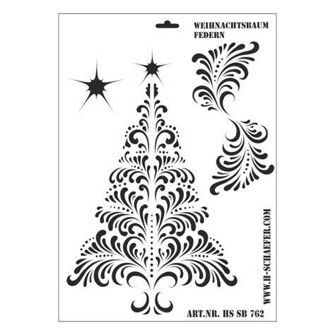 schablone weihnachtsbaum schablone din a3 weihnachtsbaum mit federn ina sch 228 fer