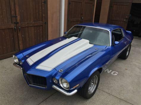 seller  classic cars  chevrolet camaro blueblack