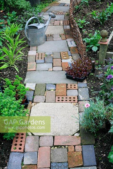 gap gardens cottage garden style path made with salvaged
