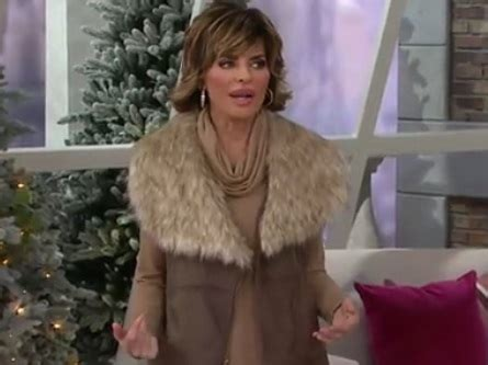 lisa renna in mink lisa rinna s clothing line on qvc uses faux leather