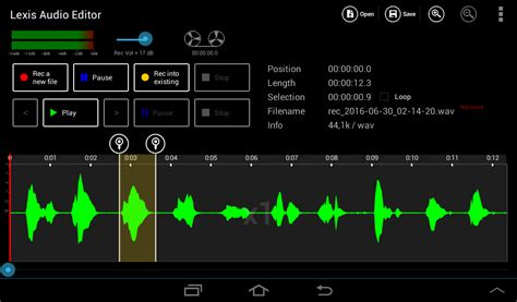 record audio android record direct into an open sound file android lexis audio editor