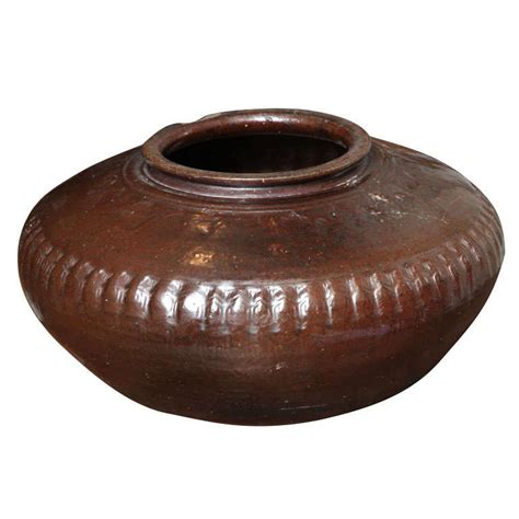 Brown Clay large brown clay pot for sale at 1stdibs