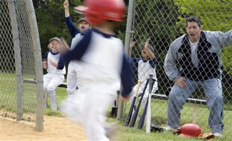 At Sons League baseball parents how dads stress their out during