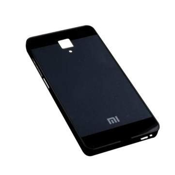 Tempered Back Cover Mirror Xiaomi tempered glass back cover aluminum frame for xiaomi 4 mi4 sale banggood sold out