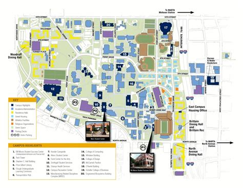 gatech map directions and parking admission gatech edu institute of technology atlanta ga