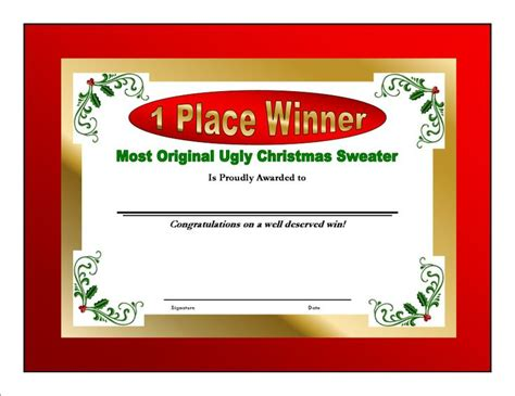 printable ugly sweater certificate no download 381 best sweater images on stuff la la la and merry