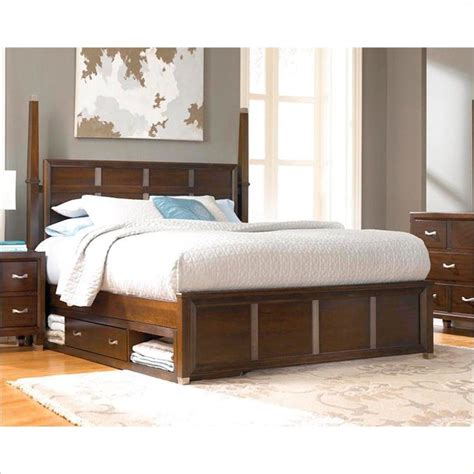 Broyhill Bed Frame Broyhill Eastlake 2 Poster Sinlge Underbed Storage Bed In Brown Cherry Modern Vancouver By