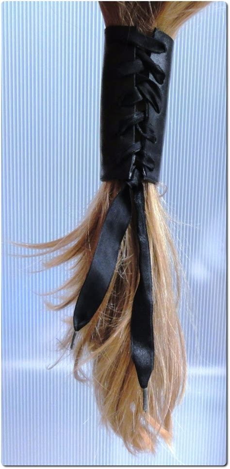 hair corsetry leather hair corset 183 how to make a hair accessory