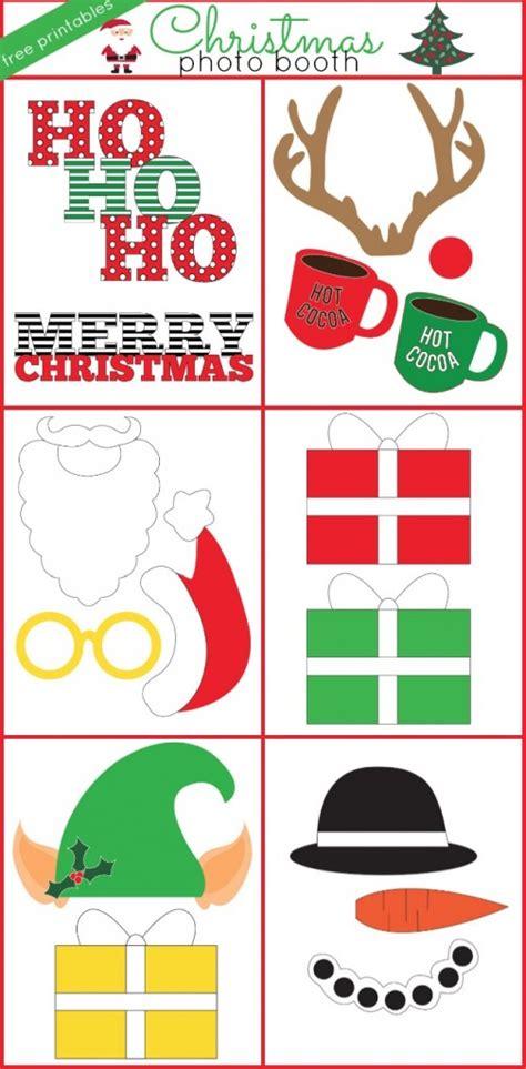 printable christmas themed photo booth props christmas photo booth props free printable christmas