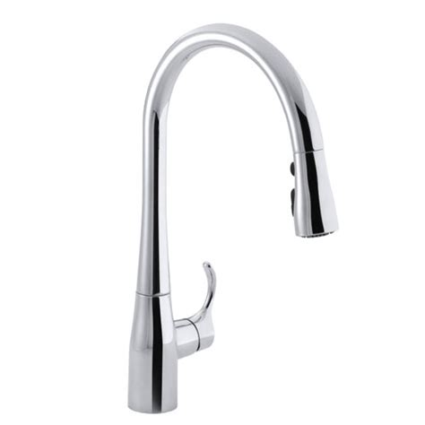 kohler single hole kitchen faucet kohler k 596 cp simplice single hole pulldown kitchen