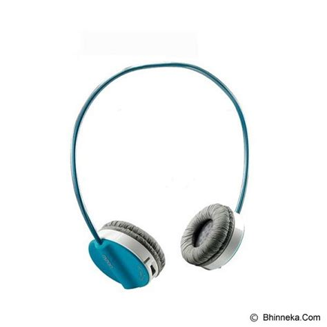 Jual Headset Bluetooth Rapoo Jual Rapoo Wireless Headset H3050 Blue Murah Bhinneka