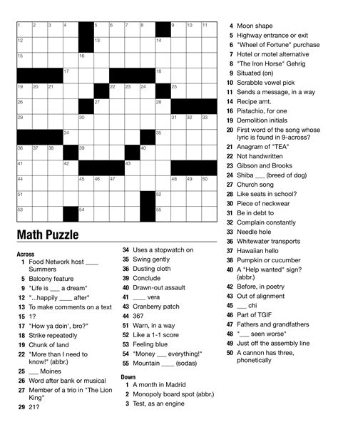 printable crossword puzzles middle school free printable crossword puzzles for middle school
