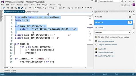 tutorial web visual studio visual studio python tutorial 5 6 interactive python