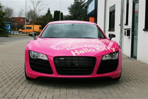 pink audi r8 pink audi r8 v10 hello kitty loves you autoevolution