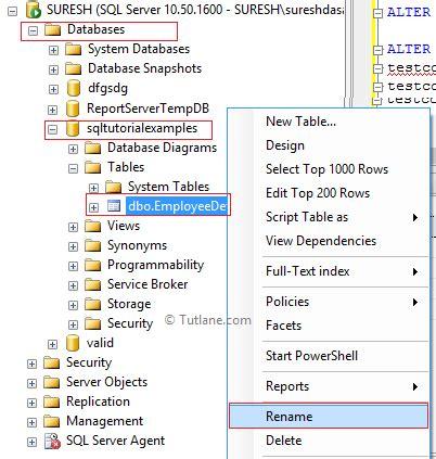 sql server rename table sql server rename table syntax cabinets matttroy