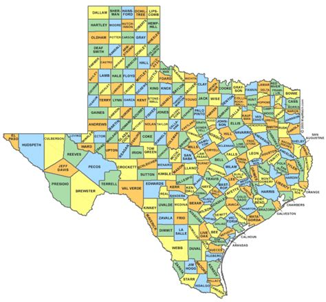 texas county map locator texas