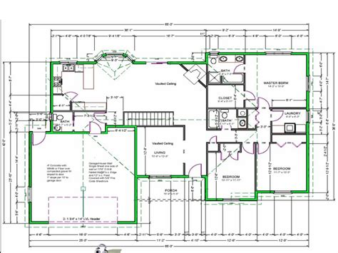 Free Blueprints For Homes | draw house plans free easy free house drawing plan plan