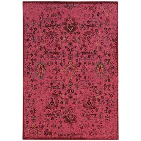 magenta area rug home decorators collection overdye ii magenta 7 ft 10 in x 10 ft area rug 443710 the home depot
