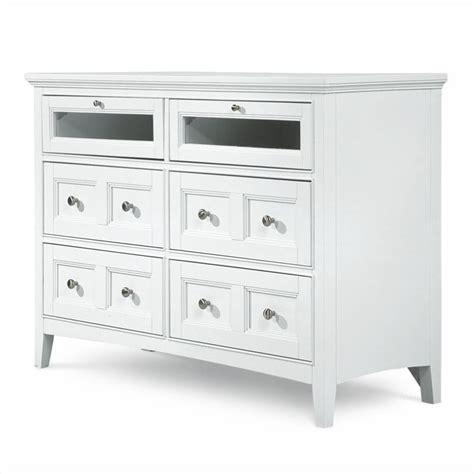 white media dresser magnussen kentwood 6 drawer media chest in painted white