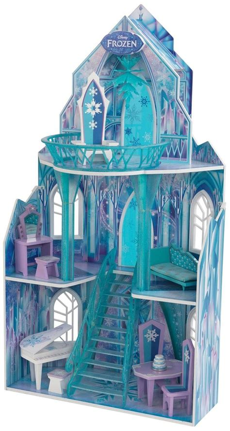 frozen doll houses kidkraft disney frozen ice castle dollhouse fun frozen themed artwork on every panel