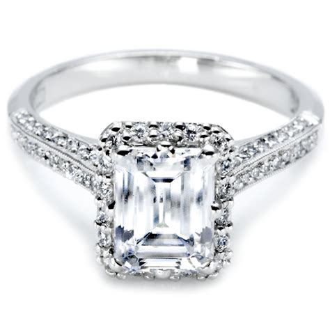 gorgeous tacori emerald engagement rings your