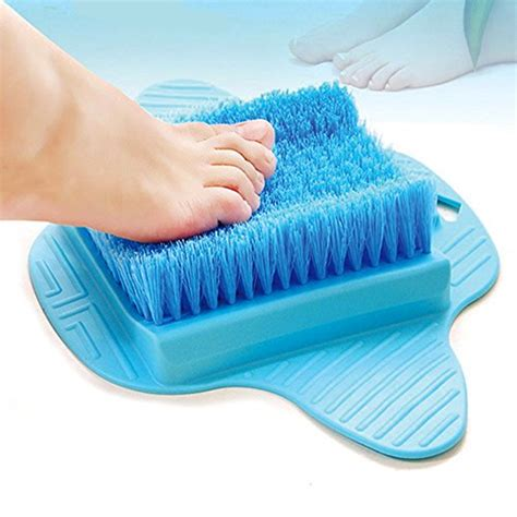 bathtub foot scrubber bath blossom foot scrubber brush free hanging hooks