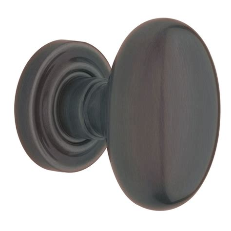 Egg Door Knob by Shop Baldwin Estate Egg Venetian Bronze Dummy Door Knob At