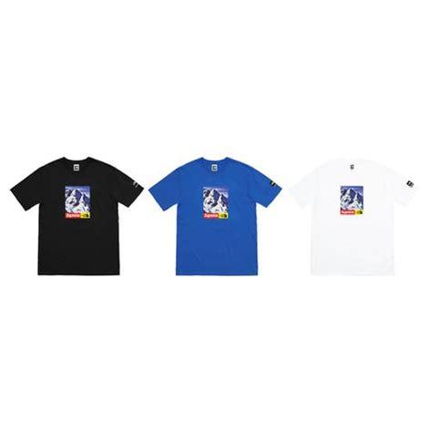 Kaos Tshirt Supreme Tnf Black supreme x the collab again for week 15 fw17