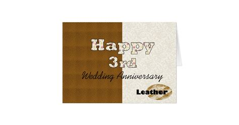 Zazzle Wedding Anniversary Cards by Happy 3rd Wedding Anniversary Card Zazzle